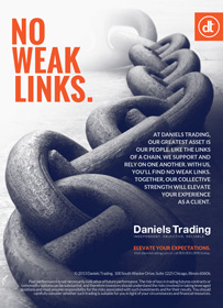 No Weak Links | Daniels Trading October 2013 Futures Magazine Advertisement