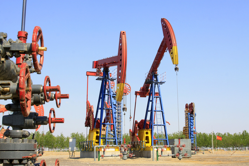 Crude oil in storage amid massive oversupply