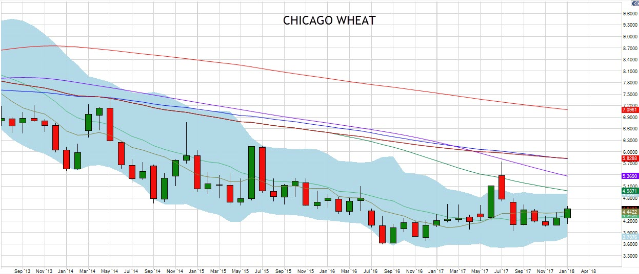 January Chicago Wheat Chart