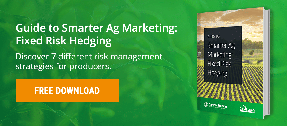 Agricultural options trading risk management and hedging